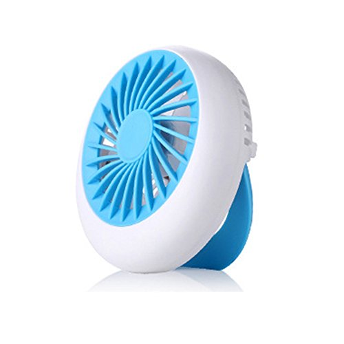 Outdoor Twin Turbo Fan (Kxtffeect Small Personal USB Fan - Portable Mini Table Desk Fan with Twin Turbo Blades, Whisper Quiet Cyclone Air Circulating Technology - For Home, Office, Outdoor Travel (Blue))