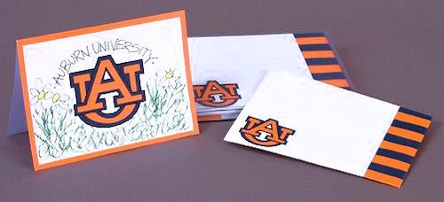 Tigers Ncaa Christmas Stocking - Auburn University Note Cards NCAA Thank You Graduation