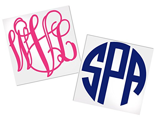 Monogram Decal Stickers for Yeti, Your Choice of Color & Style | Decals by ADavis