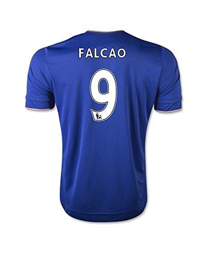 国籍軍艦ヨーロッパAdidas Falcao #9 Chelsea Home Soccer Jersey 2015(Authentic name and number of player)/サッカーユニフォーム チェルシーFC ホーム用 ファルカオ 背番号9 2015