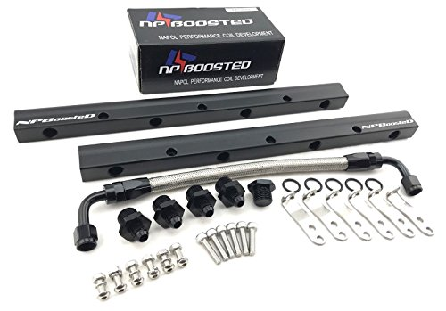 NPBoosted Aluminum Custom Fuel Rail & Middle Pipe LS1 LS3 LS6 LSX Engine Hardware Included