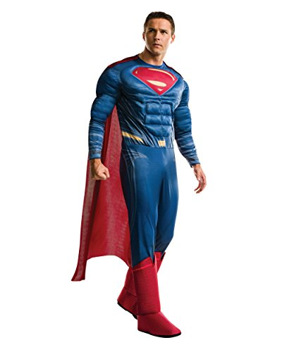 [Rubie's Men's Batman v Superman: Dawn of Justice Deluxe Superman Costume, Multi, One Size] (Adult Costumes)