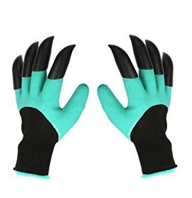 Garden Genie Gloves,OUNNE Genie Gloves With Claws for Digging & Planting (Claws on EACH Hand)