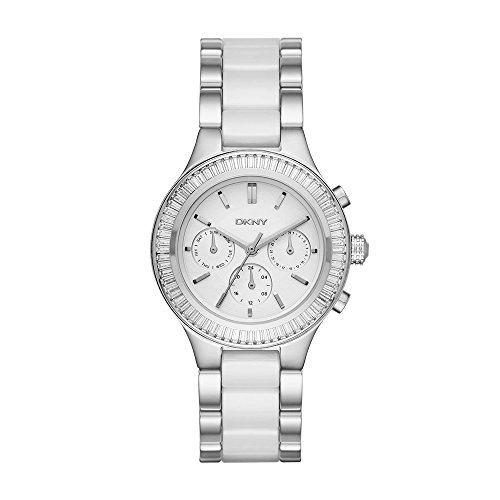 - DKNY Women's 'Chambers' Quartz Stainless Steel and Ceramic Casual Watch, Color:Silver-Toned (Model: NY2497)