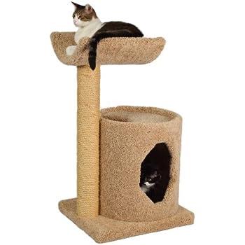 "Molly and Friends ""Cradle Condo"" Premium Handmade 2-Tier Cat Tree with Sisal, Model 36, Beige"