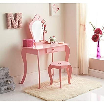 Amelia Vanity Set With Stool Mirror Kids Bedroom Furniture