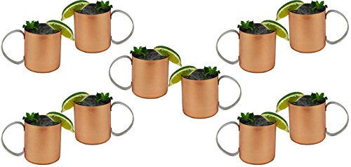 Set Of 10 - Copper Mug For Moscow Mules 12 Oz Copper-Clad Stainless Novelty Cup by Travel Mugs