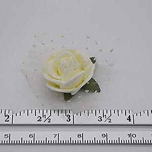 50Pcs/Lot 2Cm Diameter Mini PE Foam Rose Head Multicolor Artificial Silk Flowers Bouquet for Wedding Party Home Decoration Lake Blue 3