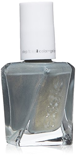 essie gel couture nail polish, spellbound, green metallic na