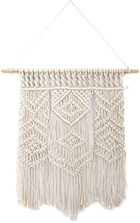 Vosarea Macrame Wall Hanging Woven Tapestry Boho Chic Bohemian Home Decoration Handmade Wall Hanging Tapestry Wall Art for Apartment Bedroom Living Room