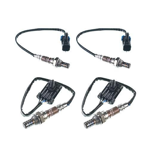 A-Premium O2 Oxygen Sensor For Chevrolet Silverado 1500 C1500 C2500 Tahoe Express 1500 2500 GMC Upstream and Downstream 4-PC Set (C1500 Sensor Oxygen)