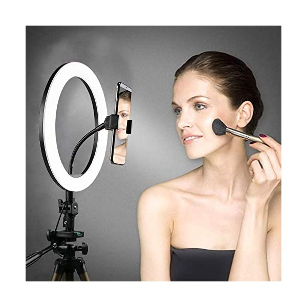 ADYM Selfie Ring Light, 3 Lights Color USB Adjustable LED Ring Light with Tripod Stand & Cell Phone Holder for YouTube Video and Live Makeup Photography