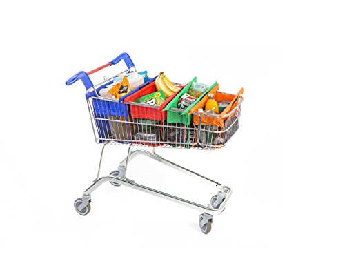 Trolley Bags - Reusable Eco Friendly Shopping Bags to Easily and Safely Bag your Groceries From Your Cart. Sized for Smaller American Grocery Carts. Shows the World You Care About The Planet.