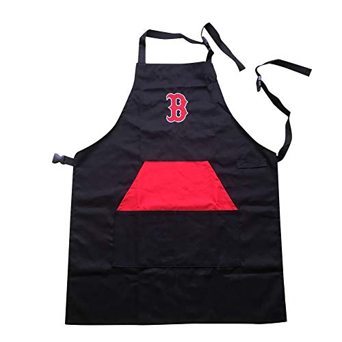 ENJOY 11 Adjustable Professional Grade Chef Apron for Kitchen, BBQ, and Grill (Black) with Towel Loop (Boston) ()