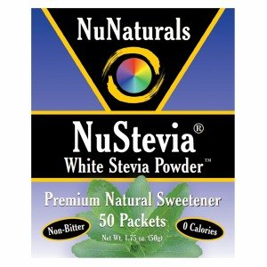 NuNaturals NuStevia White Stevia Powder Packets 50 ()