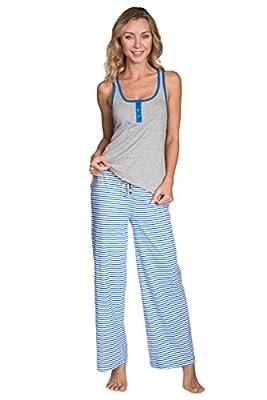 Cozy Loungewear Women's Fun Printed Tank and Pants 2 Piece Pajama Set