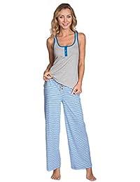 Cozy Loungewear Mujer divertido printed Tank y pantalones 2Piece Pajama Set