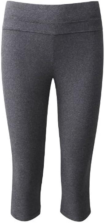 FROM Clothing Algodón orgánico Yoga 3/4 Leggings Gris Oscuro Marl: Amazon.es: Ropa y accesorios