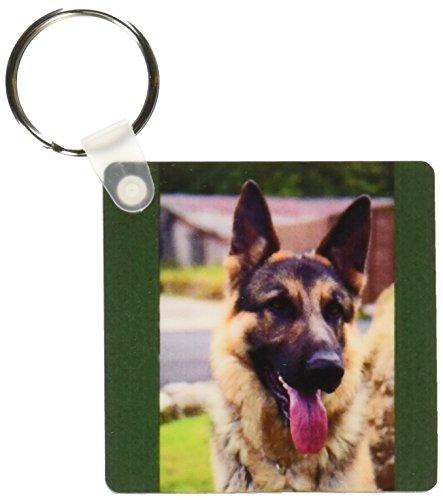 3dRose German Shepherd Portrait - Key Chains, 2.25 x 4.5 inches, set of 2 (kc_1222_1) (German Shepherd Portrait)