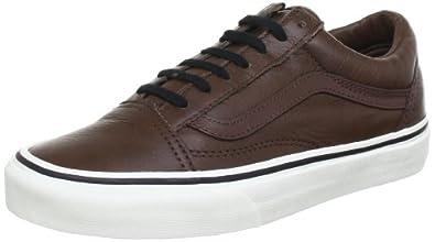 vans old skool brown leather