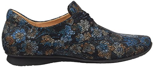 Derby para Chilli Think Mujer Multicolor Petrol Sz 12 RB5ExHw