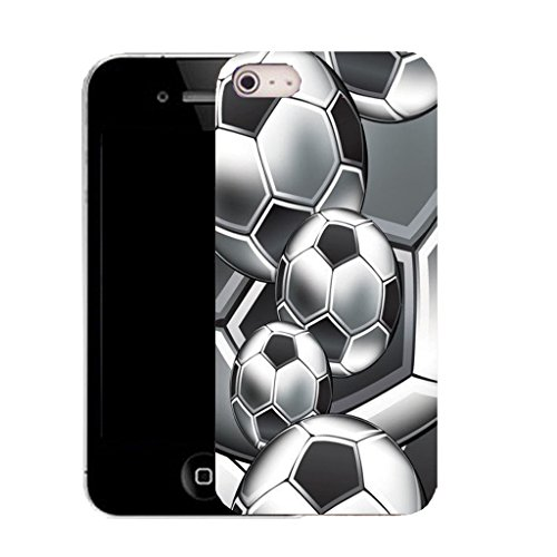 Mobile Case Mate IPhone 4 clip on Silicone Coque couverture case cover Pare-chocs + STYLET - multi footy pattern (SILICON)