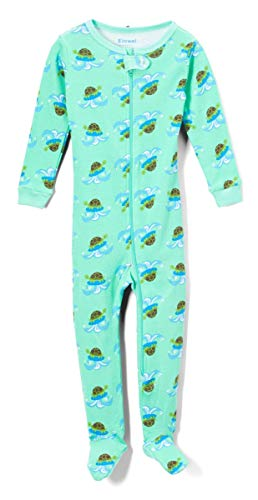 Elowel Baby Boys Footed Turtle Pajama Sleeper 100% Cotton Size 6-12 Months ()