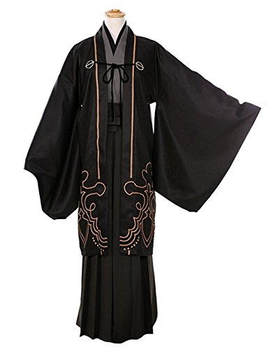 ZYHCOS Cosplay Costume Black Printing Kimono Halloween Suits