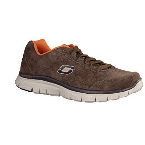 Skechers Charcoal uomo, pelle scamosciata, sneaker bassa Marrone