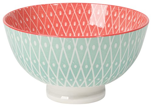(Now Designs Stamped Bowls (Set of 6), 10 oz, Light Blue/Pink)