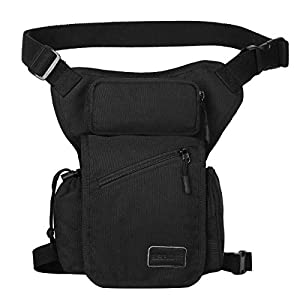 Eshow Men's Drop Leg Pouch Tools Bags Tactical Leg Bag Purse Fanny Pack Thigh Bags Bike Cycling Hip Bag Canvas