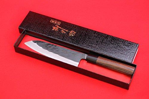 TAKAYUKI IWAI WHITE STEEL NO.2 KUROUCHI FINISH DEBA JAPANESE CHEF KNIFE by Takayuki Iwai