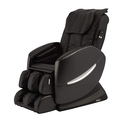 Titan TI-Comfort 7 Full Body Massage Chair - S Track Design, Air Massage, Computer Body Scan, and 6 Massage Styles (Black)