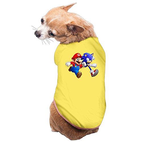 Super Mario 3d World Cat Costume (Elnory Super Mario6 Pet Shirt Dog Cat Costume S)
