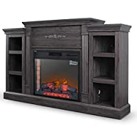 DELLA 28 in. Electric Fireplace with Enh...