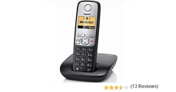Siemens Gigaset A400H - Teléfono fijo digital (manos libres, pantalla LCD), negro y plateado: Amazon.es: Electrónica