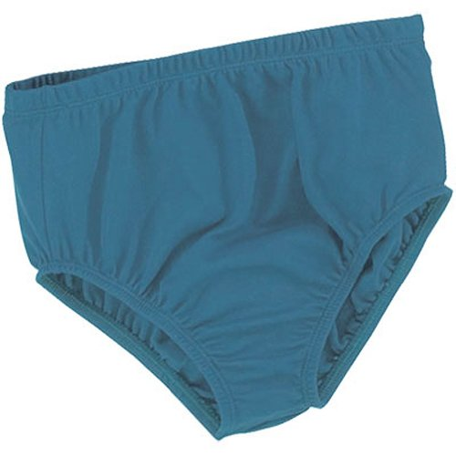 Nylon Cheerleading Briefs - 100% Stretch Nylon Cheerleading Brief Trunks, Youth Large, Columbia Blue