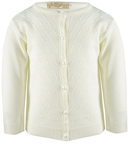 girls cream cardigan - 3