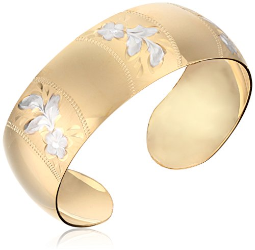 Gold Filled Wide Satin Engraved Bracelet product image