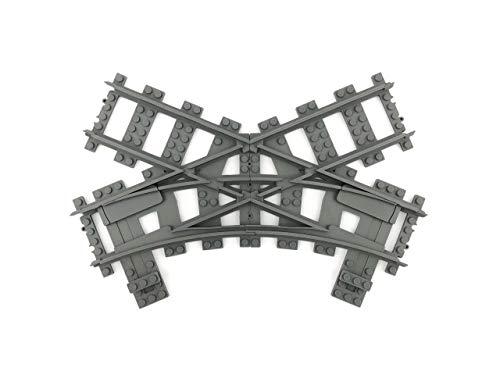 Trixbrix Single Slip R40, Compatible with Lego Train, 3D Printed! ()