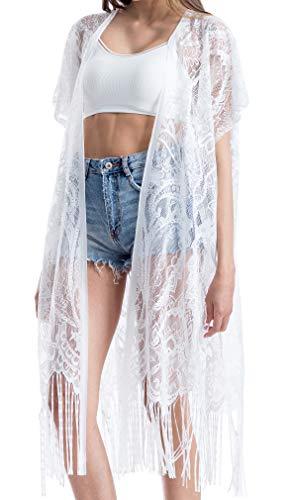 Summer Cover Ups for Women Beach Wear Plus Size Long Swimwear Bikini Lace Tassel Maxi Beach Dress