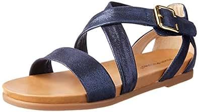 Hush Puppies Women's Tasmine Fashion Sandals Midnight Metallic 6 US