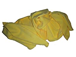 8 Pack of Yellow 300 GSM Professional Quality Microfiber Towels-14\
