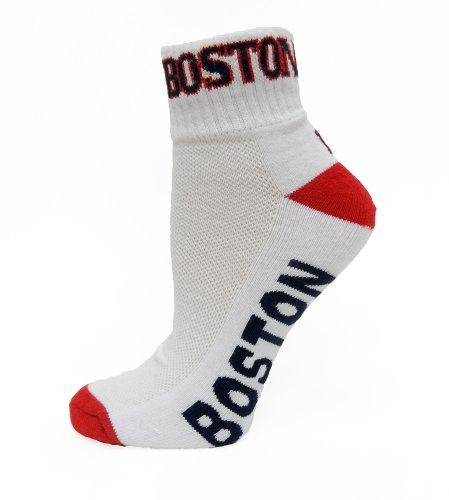 (MLB Boston Red Sox Quarter Sock, White)