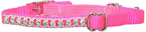 Jeweled Cat Safety Collar - Petmate Jeweled Break Away Cat Collar, 3/8-Inch, Hot Pink
