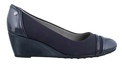Lifestride Womens Juliana Wedge Pump Navy