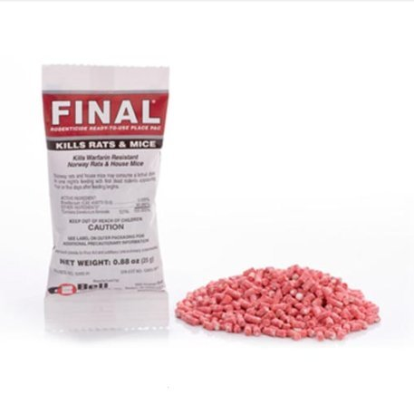 Bell Final Place Pack Rodent Bait Poison 16#- Brodifacoum by Bell Labs