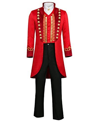 FangjunxianST PT Barnum Cosplay Costume Performance Uniform Showman Party Suit -