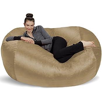 Sofa Sack Bean Bags6u0027 Large Bean Bag Lounger, Camel