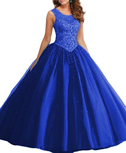 Promworld Damen A-Linie Kleid Blau Aqua Königsblau hq8KS5mQT